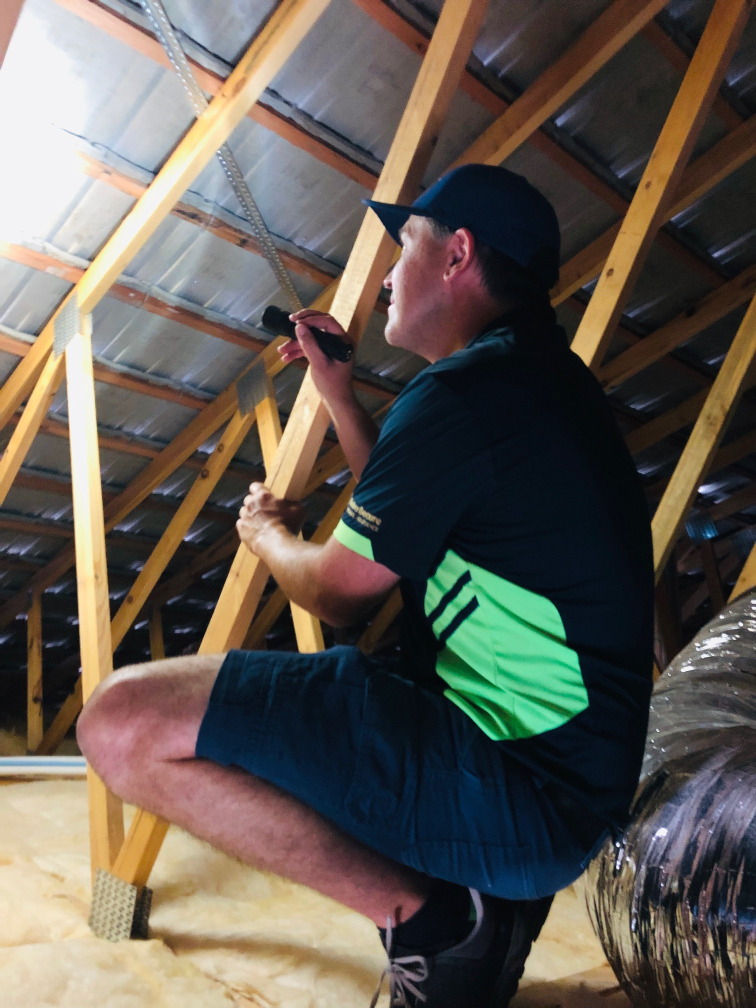 Inspecting a roof void as part of a termite inspection