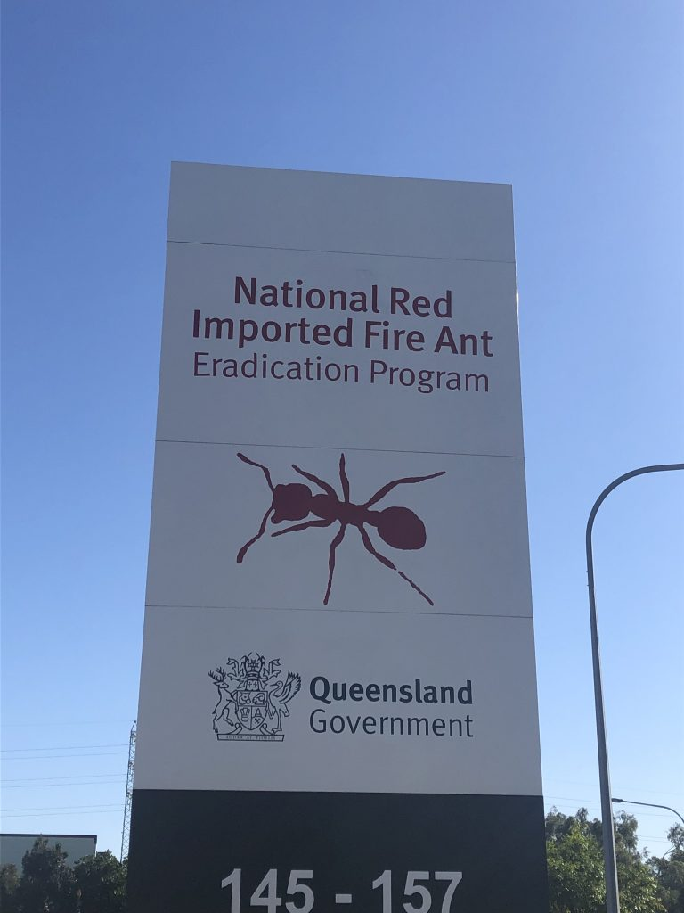Fire ant centre sign